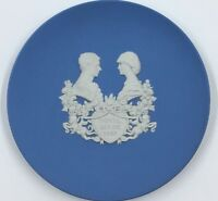 Wedgwood Jasper Ware Plate 1982 Royal Birth Of Prince William 4""