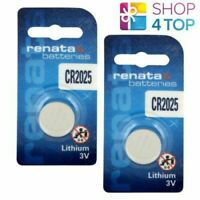 2 Renata CR2025 Lithium Batteries 3V Cell Coin Button DL2025 Exp 2026 New