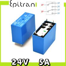 1pcs VE-24H5-K Relè elettromagnetico SPDT Ubobina 24VDC 5A max250VAC 1,6k ohm FU