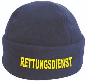Rettungsdienst oder Security Fleece Mütze / Cap in navy blue