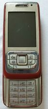 Nokia E65-1 Mobile Phone Red Good Condition for Parts FREE SHIPPING