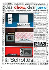 PUBLICITE ADVERTISING  1964    SCHOLTES  éléctroménager  cuisinière