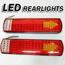 Led Rear Tail Lights Truck Lorry Trailer Tipper Chassis Transporter 24v Set