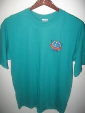 Coasters Brewery Brew Pub Grill Melbourne Florida Bar Lounge Turquoise T Shirt L