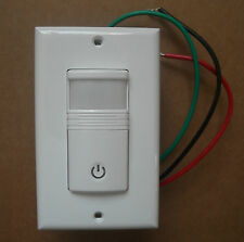 OCCUPANCY / VACANCY WALL MOTION SENSOR DETECTOR 120/277V SWITCH WHITE NO NEUTRAL