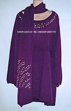 STYLE & CO WOMAN – SWEATER - SCARF – SET - PLUM - PURPLE – PLUS SIZE 2X –NWT $69