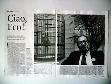 COUPURE DE PRESSE-CLIPPING : Umberto ECO  Ciao,Hommage [4pages] 02/2016