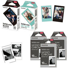 50 Photos For Fujifilm Instax Mini 8 Film Camera MonoChrome,Black,Sky Blue Frame