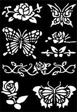Rose Temporary Tattoo #Henna Glitter Stencil Sticker Body Art Vinyl