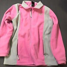 The North Face Womens Fleece Jacket Full Zip Pink Gray Girls Sz XL Womens Small