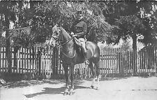 POSTCARD   MILITARY  HUNGARY  AUSTRIA   Mounted  Officer