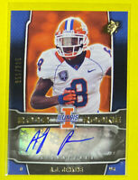 🔥2012 UD SPx A.J. Jenkins Auto Card # 51/225 Illinois Fighting Illini HTF 🤯😱