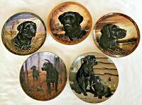 Franklin Mint Black Labrador Collector Plates, Royal Dalton Limited Editions
