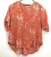 Cato Women's Size 18/20W V Neck 3/4 Sleeve Floral Print Polyester Blouse Top