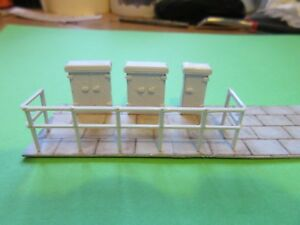 3 D Printed  Line side Relay Cabinets with Safety rails,Paved Area and Truncking
