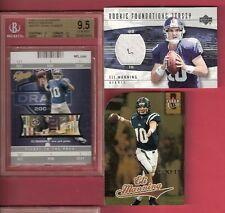 ELI MANNING 04 FLEER AUTHENTIX ROOKIE BGS GEM MINT 9.5 + UD RC JERSEY + LUCKY 13