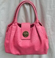 AUTH $398 KATE SPADE NEW YORK Pink Ostrich Leather Anisha Bexley Tote Handbag
