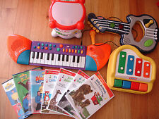 Kids mixed lot music DVD's Drum Guitar Keyboard Piano Wiggles Baby Genius Leap F