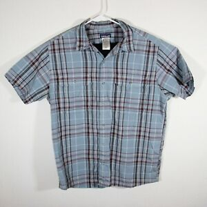 Patagonia - Snap Button up - Short Sleeve Shirt - Blue/Red Plaid - Men's L