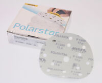Mirka FA61105093 Polarstar 6 in.15 Hole, Film-Backed Vacuum Grip Disc 1200G 50Pc