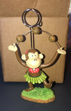 Monkey in Hula Skirt Juggling Coconuts Photo Holder for Displaying 1 Photo - EUC