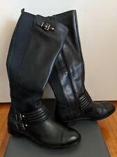 Jessica Simpson -- Black Leather Boots US size 11M/41 (AUS size 9.5/10)