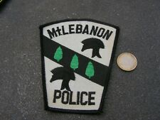 PATCH POLICE ECUSSON COLLECTION  USA   police milebanon