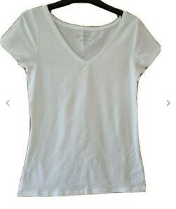 BNWOT Atmosphere White Short Sleeve V Neck T Shirt Size 14