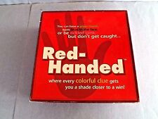"""""""RED-HANDED"""" BOARD GAME-2003,A COLORFUL CLUE GETS YOU CLOSER TO WIN, EXCELLENT++"""