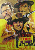 """Reproduction """"Clint Eastwood"""", Western Poster, The Good The Bad & The Ugly"""
