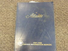 1987 1988 Cadillac Allante Convertible Shop Service Repair Manual Book 4.1L V8