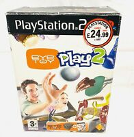 PlayStation 2 PS2 Eye Toy Play 2 & Camera Boxed & Complete