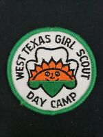"""Vintage 3"""" West Texas Girl Scouts Day Camp Patch Badge"""