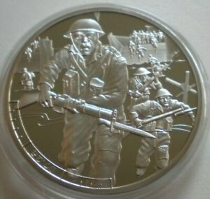 24 HOURS OF D-DAY 07.25AM BAILIWICK OF GUERNSEY 2019 PROOF £5 POUND COIN