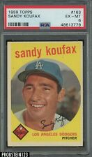 1959 Topps #163 Sandy Koufax Los Angeles Dodgers HOF PSA 6 EX-MT