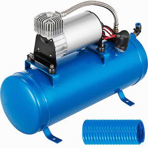VEVOR 120 PSI 12V DC Luft Kompressor Air Horn Kit 6L Trumpethorn Compressor 180W