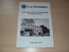 MEMOIRE DE LA SOCIETE D'HISTOIRE ET ARCHEOLOGIQUE DE CHALON/SAONE
