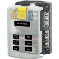 Blue Sea ST Blade Compact Fuse Block 4 Circuit with Cover #5045
