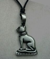 ANUBIS DOG PENDANT ON CORD NECKLACE / EGYPTIAN 4cm