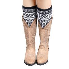 Fashion Women Socks Jacquard Knitted Stocking Leg Warmers Winter Warm Boot Socks