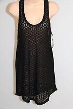 New Roxy Swimsuit Bikini Cover Up Dress Size M Lady Racer Tank Black