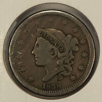 1838 1c Coronet Head Large Cent SKU-Y2580