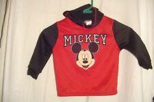 Disney Baby Hoodie Mickey Mouse Red & Black slipover sweatshirt 24 mos preowned