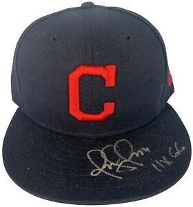 Omar Vizquel autographed signed inscribed New Era Hat Cleveland Indians PSA COA