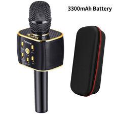 3300mAh Mini Karaoke Ktv Microphone Handheld Bluetooth Wireless Phone Music Mic