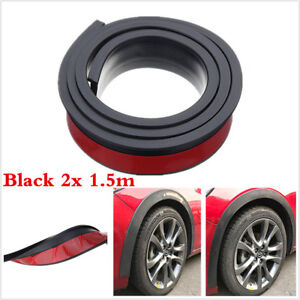 Universal 2Pc 1.5m Car Wheel Trim Rubber Fender Moulding Flares Protection Strip