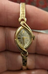 Bulova M5 10K RGP w/ Signed Accutron Tuning Fork Crown and 5AR Mvmt, Not Running