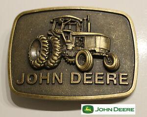 John Deere Classic Tractor Belt Buckle Antique Bronze Color USA