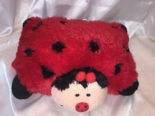 """Pillow Pets Pee Wees Lady Bug 11"""" Red and Black Plush"""