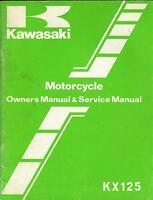 1982 KAWASAKI MOTORCYCLE KX125 P/N 99920-1164-01 OWNER'S/SERVICE MANUAL (664)